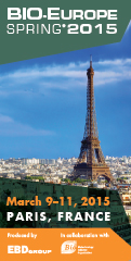 Banner EBD Group BIO-Europe Spring 2015 BES Paris France March 120x240px